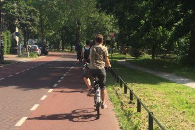 Bike in bikelane